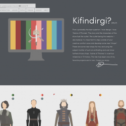 A Graphic Tribute To 'Game Of Thrones'