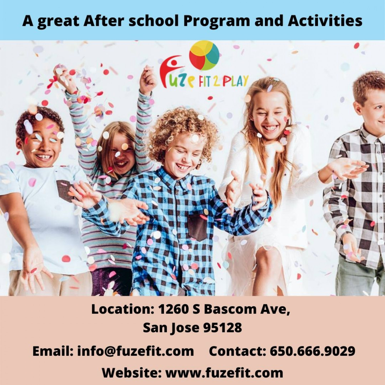A great After school Program and Activities Infographic