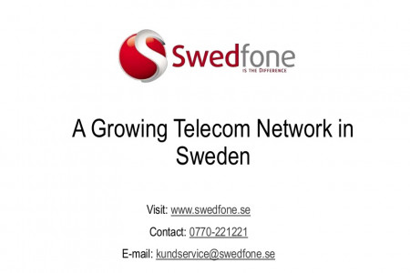 A Growing Telecom Network in Sweden-Swedfone Infographic