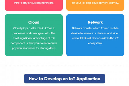 A Guide on How to Develop an IoT Application - IoT App Developers Infographic