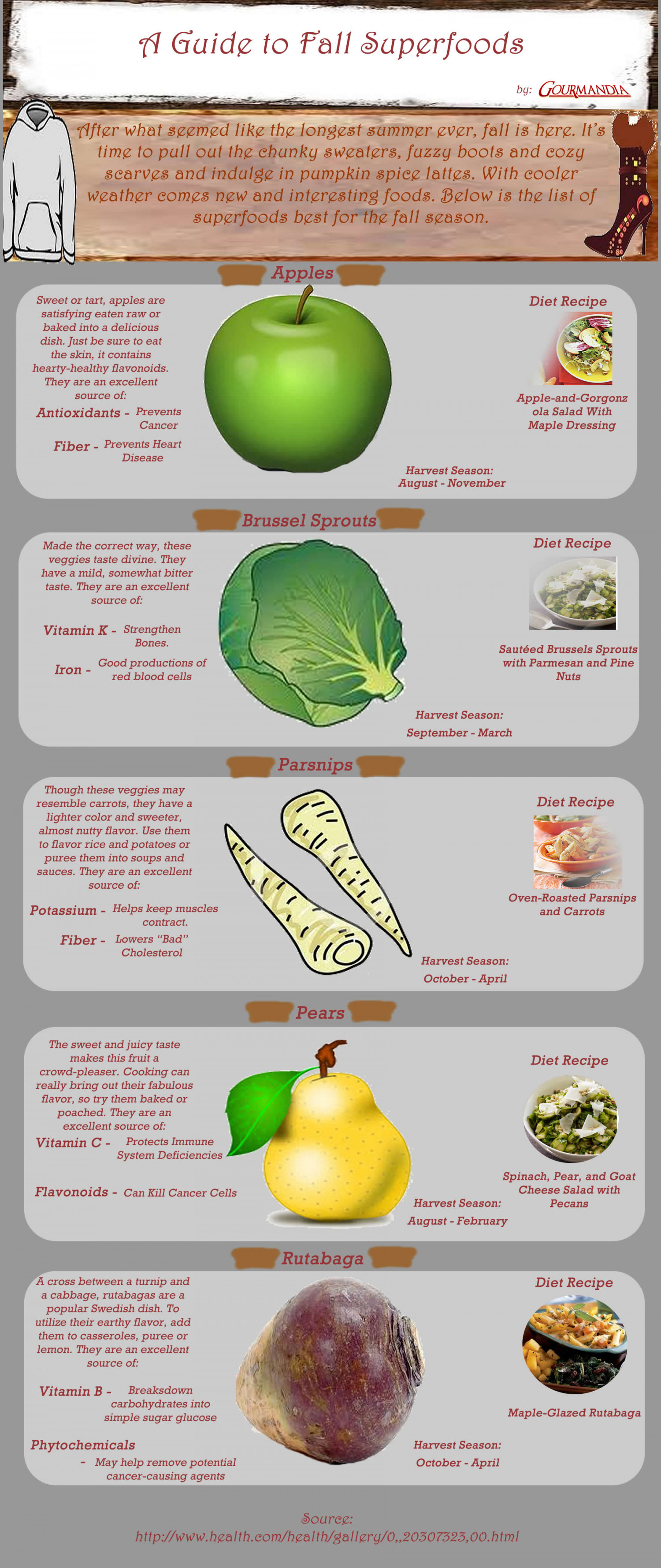 A Guide to Fall Superfoods Infographic
