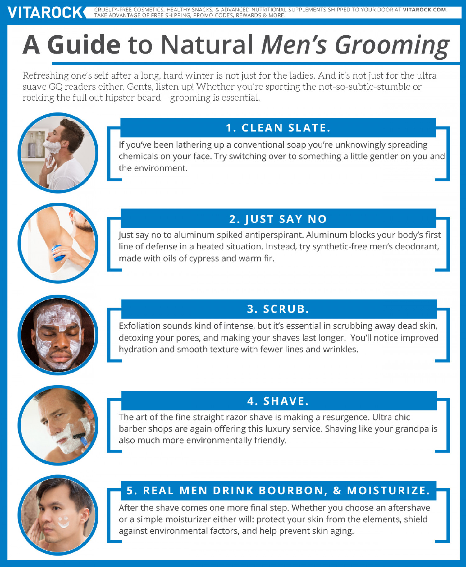 A Guide to Natural Men's Grooming Infographic