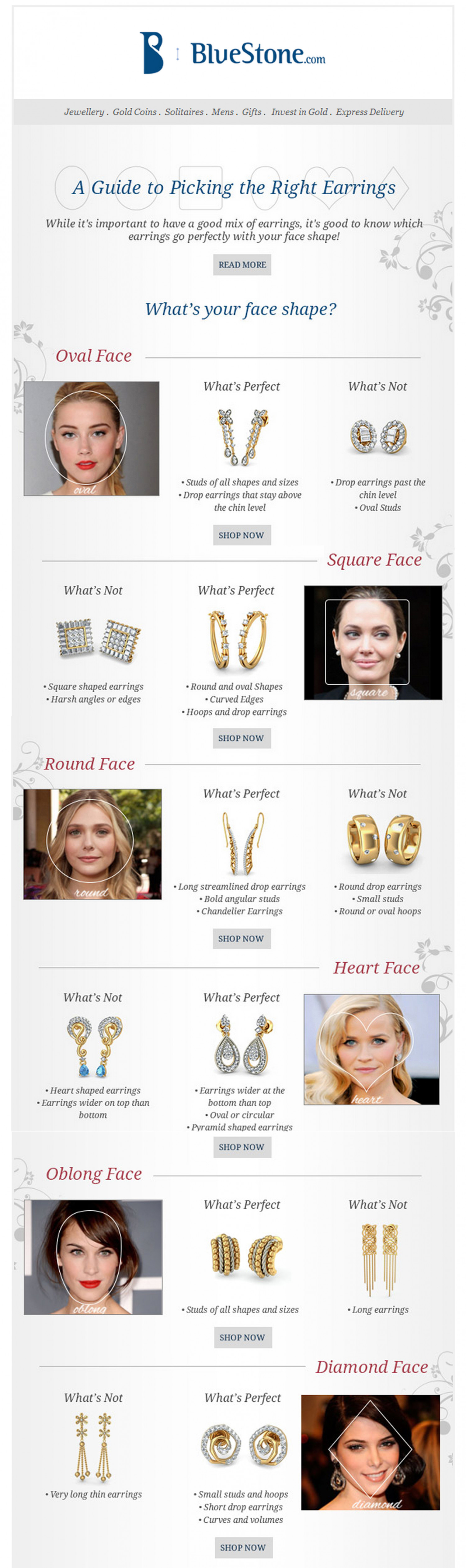 A Guide To Picking The Right Earrings Infographic