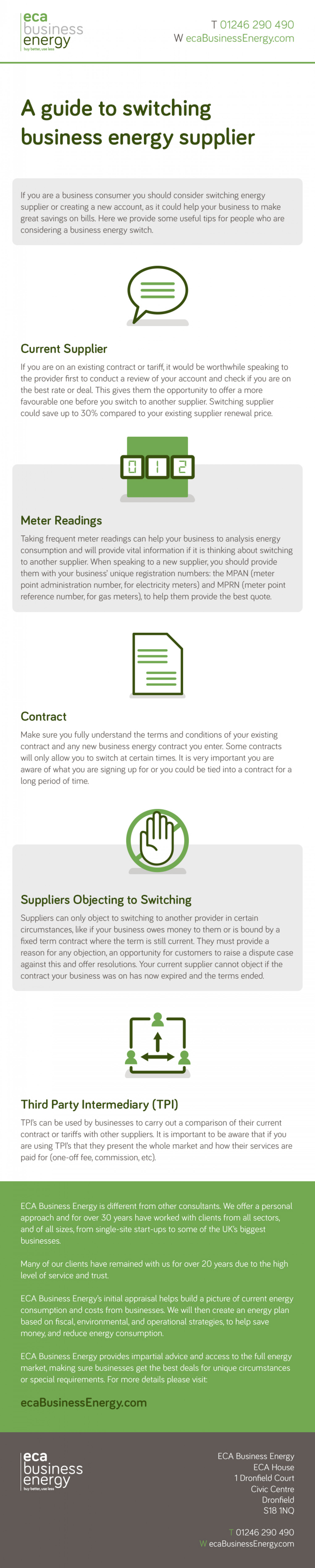 A Guide to Switching Business Energy Supplier Infographic