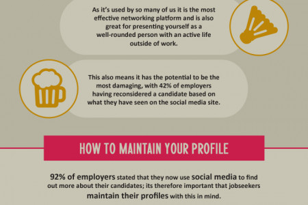 A Guide to Using Social Media in your Job Search Infographic