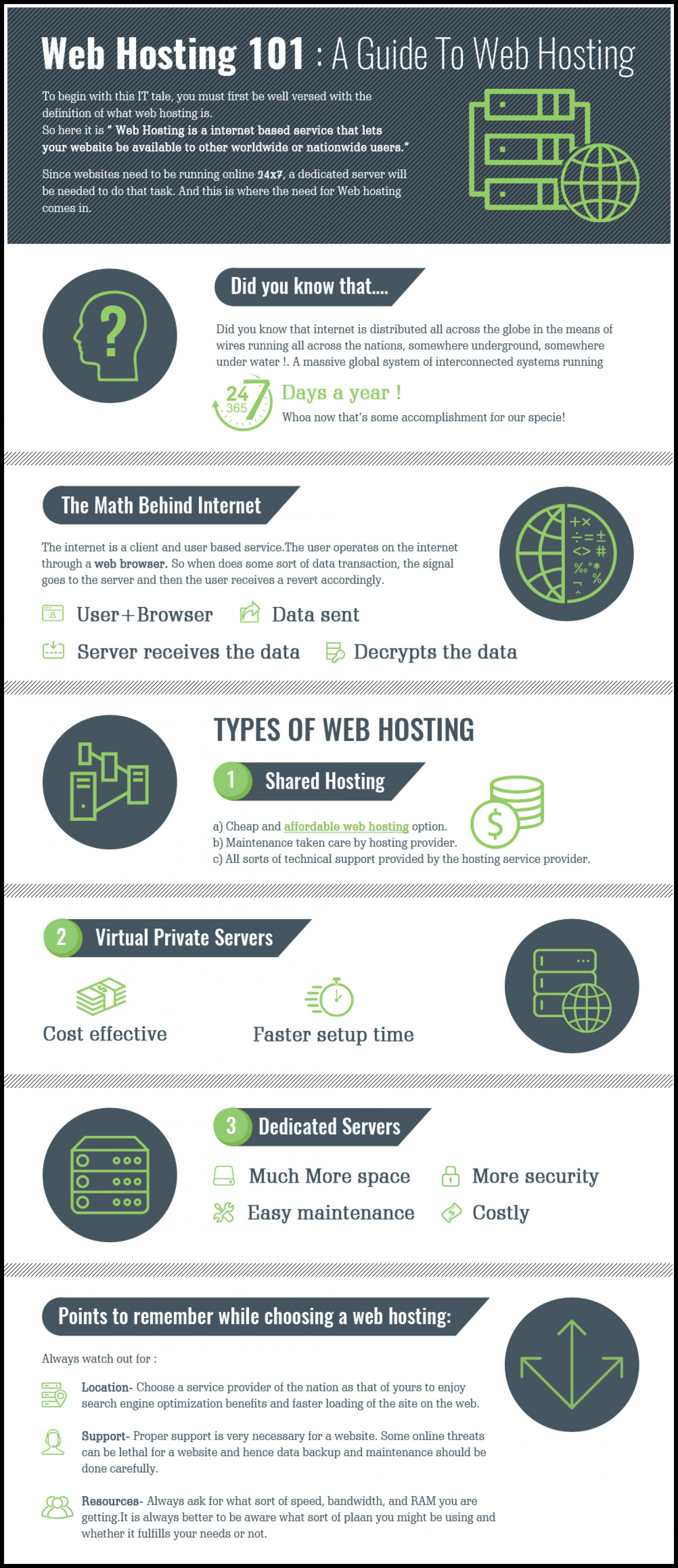 A Guide To Web Hosting Infographic