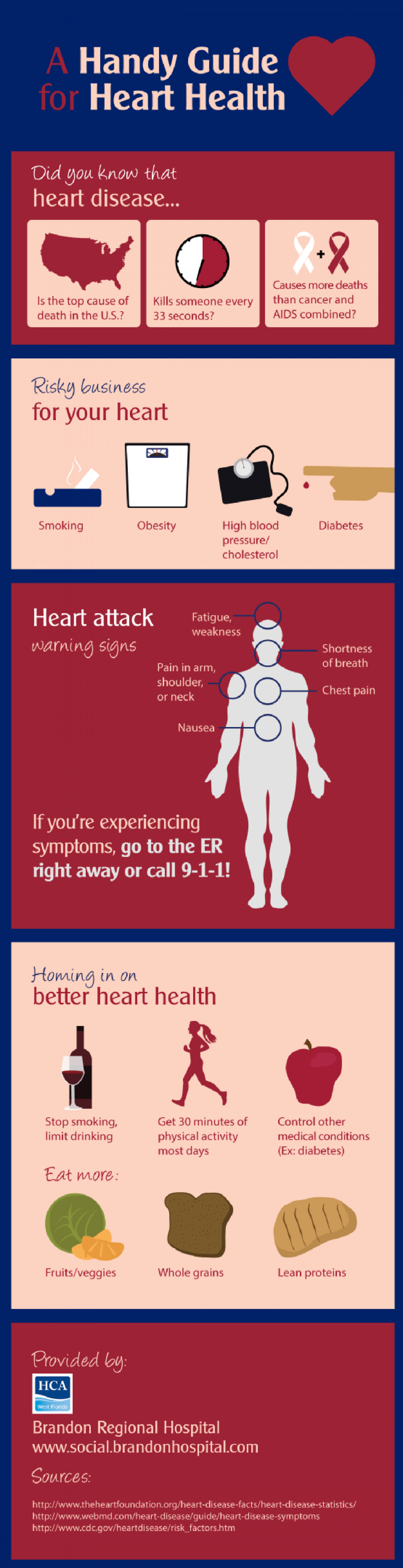 A Handy Guide for Heart Health  Infographic