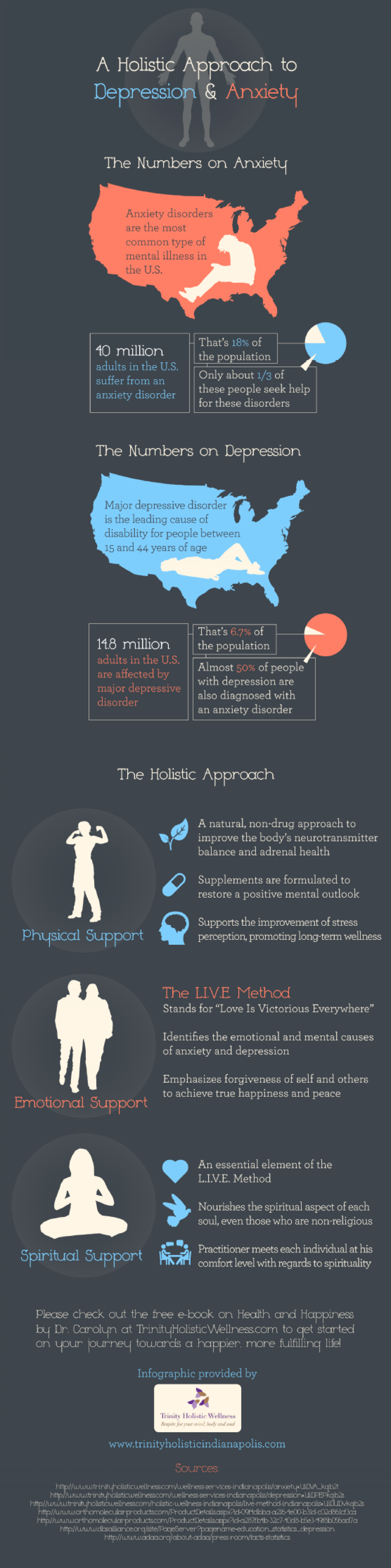 A Holistic Approach to Depression and Anxiety Infographic