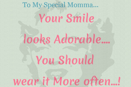 A Kid To  His Mother Quote Infographic