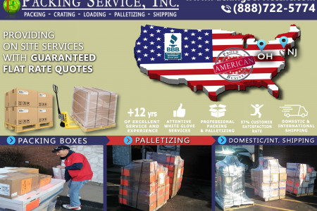 A La Carte Moving and Shipping Services with Packing Service, Inc. Infographic