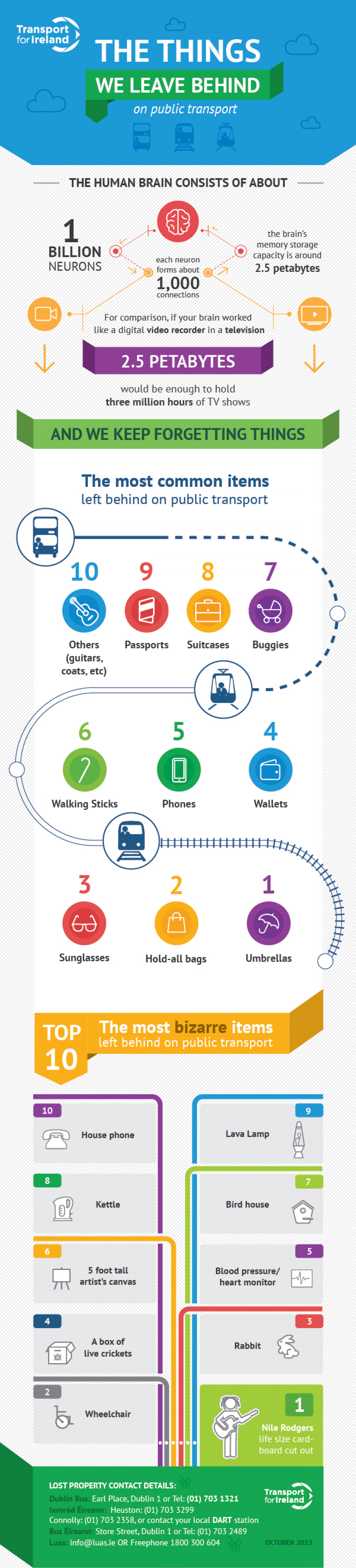 The things we leave behind on public transport Infographic
