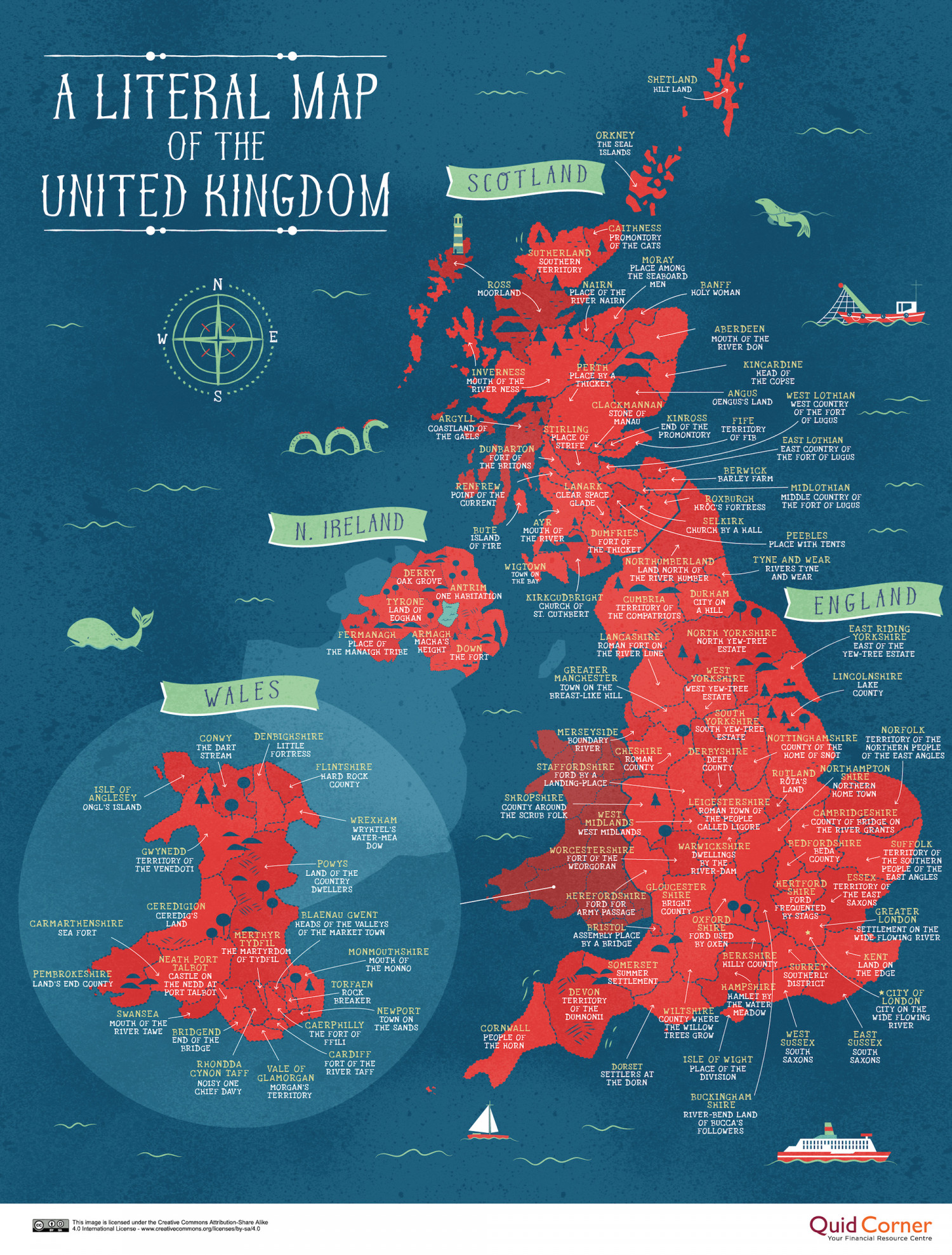 A Literal Map of the United Kingdom Infographic