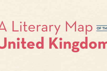 A Literary Map of the United Kingdom Infographic