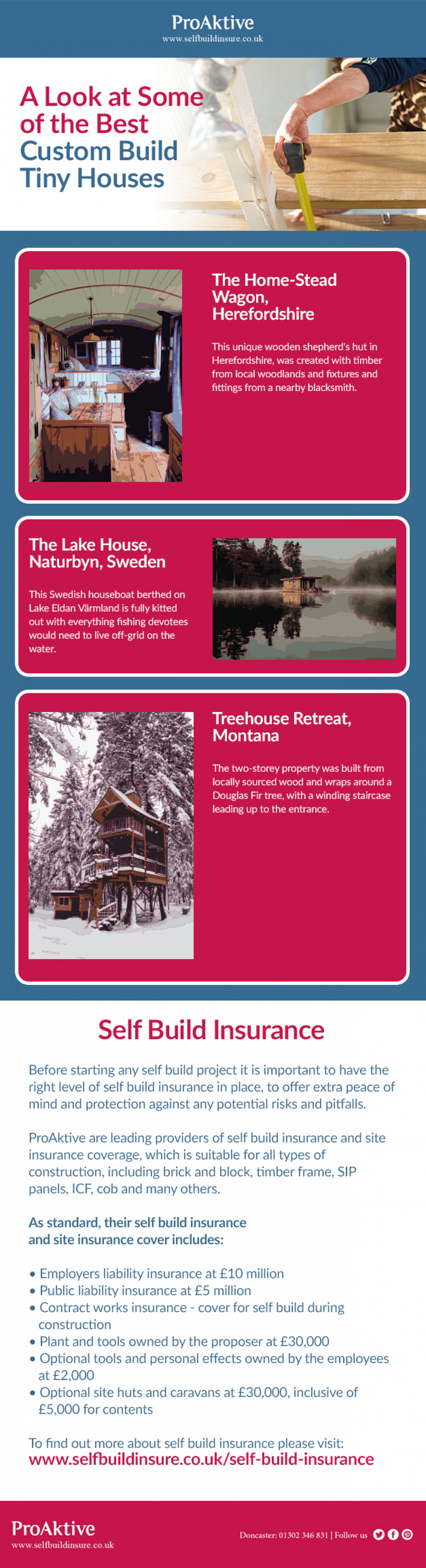 A Look at Some of the Best Custom Build Tiny Houses Infographic