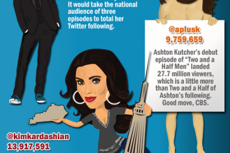 A Look at Twitter Followings Infographic