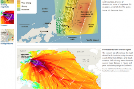 A moment of reflection: Japanese Earthquake and Tsunami Infographic