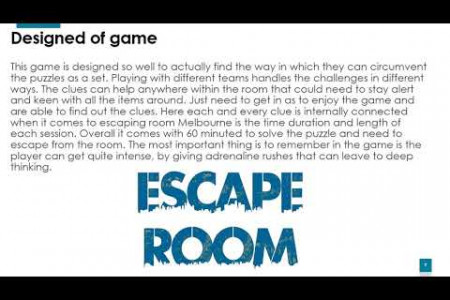 A New Place of Acknowledging the Power of Thinking about Escape Room Melbourne Infographic