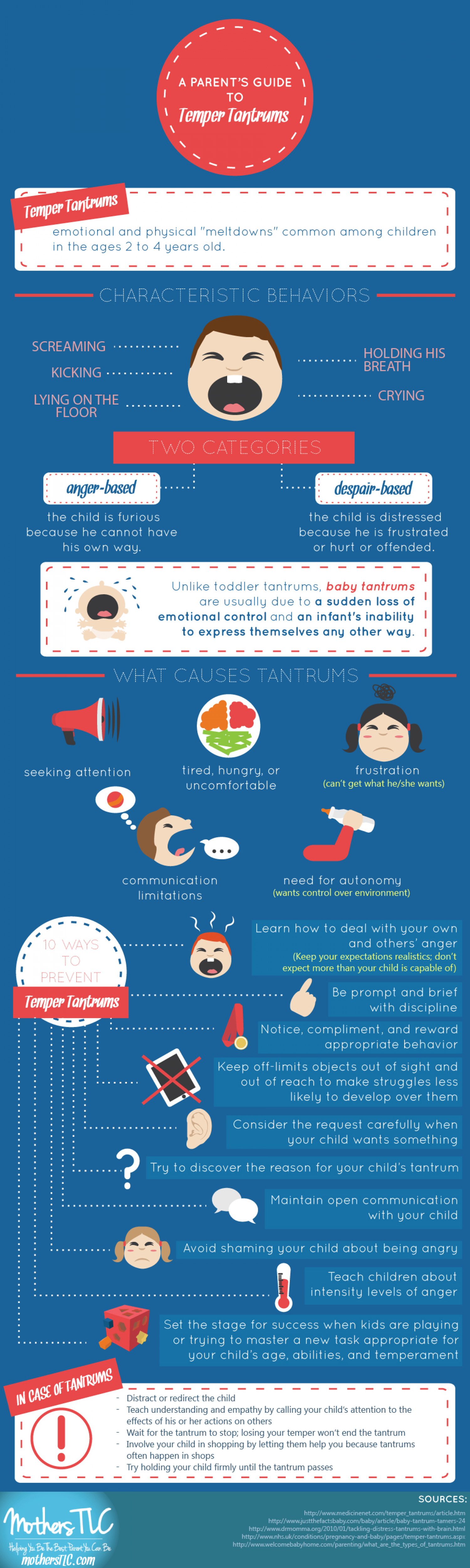 A Parent's Guide to Temper Tantrums Infographic