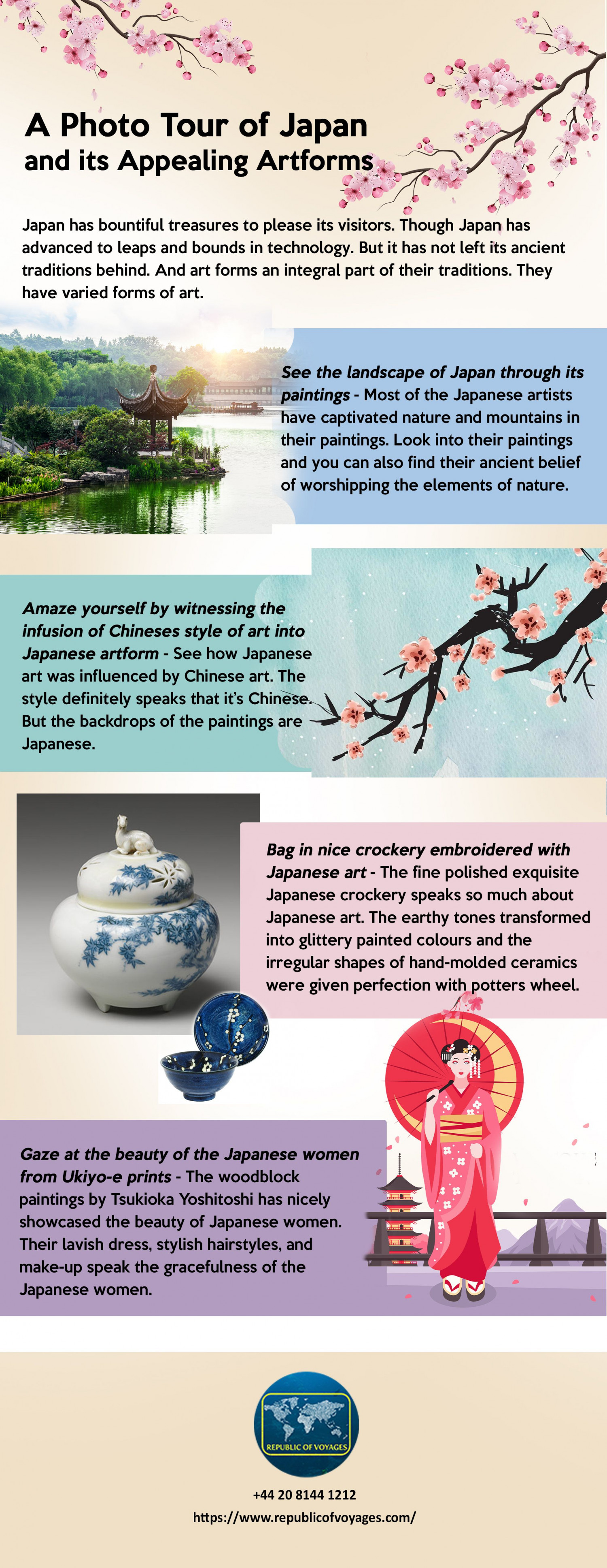 A Photo Tour of Japan and its Appealing Artforms Infographic
