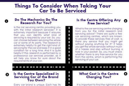 A Quick Guide To Getting Your Car Serviced Infographic