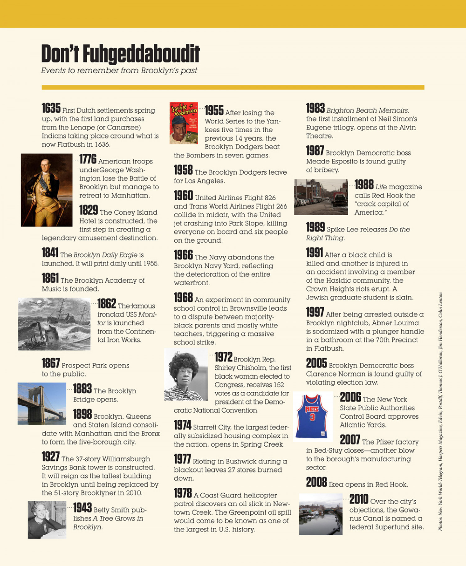 A Quick History of Brooklyn Infographic