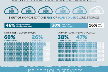 A Snapshot into Cloud Storage Adoption Infographic