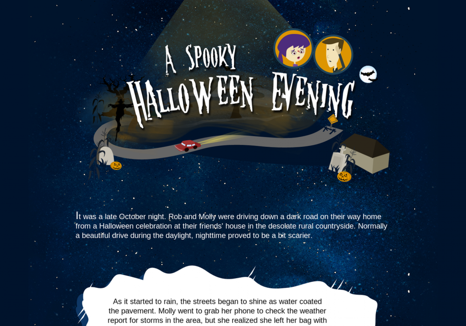 A Spooky Halloween Evening Infographic