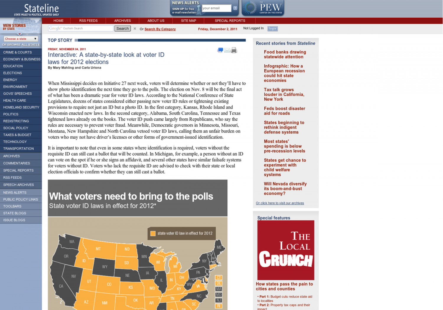 A state-by-state look at voter ID laws for 2012 elections Infographic