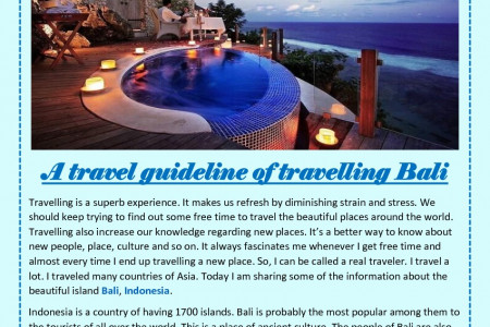 A travel guideline of travelling Bali Infographic