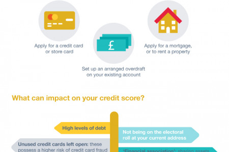 A Visual guide to Credit Scores Infographic