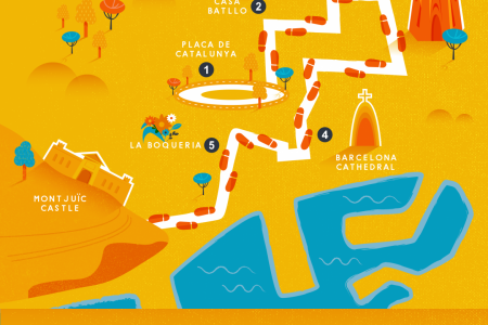 A Walking Tour of Barcelona Infographic
