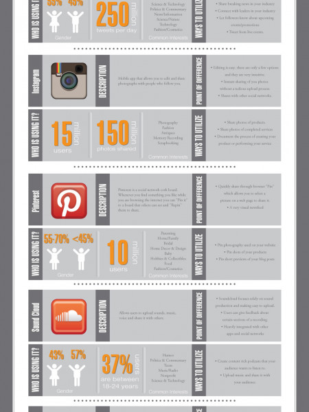 A Who's Who of Social Media Infographic