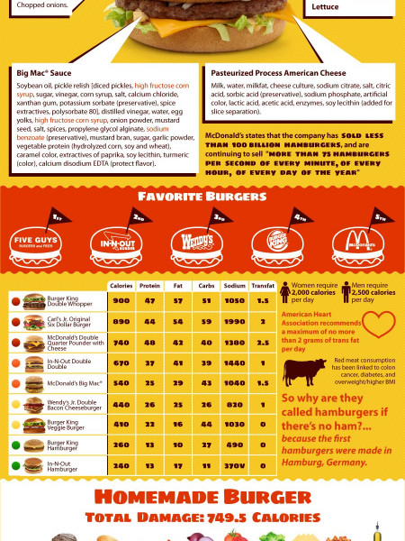 A World of Burger Infographic