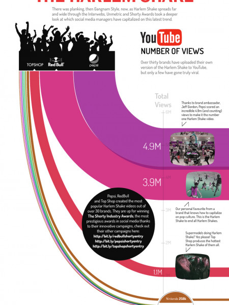 Social Media Managers Execute The Harlem Shake Infographic