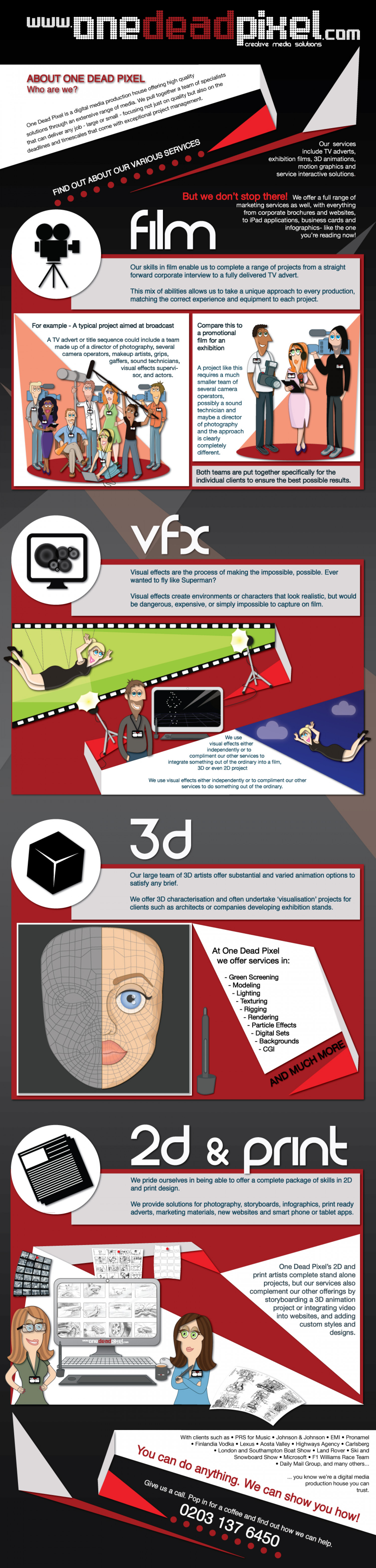 About One Dead PIxel Infographic
