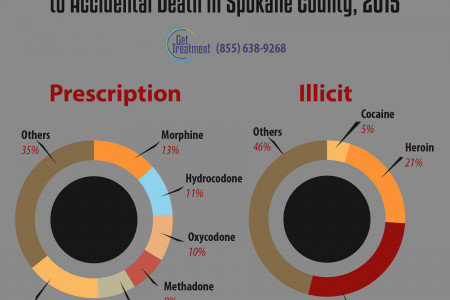 Accidents vs drugs in Spokane WA Infographic