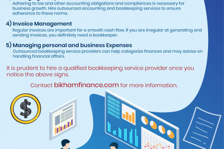 Accounting Bookkeeping Services Infographic