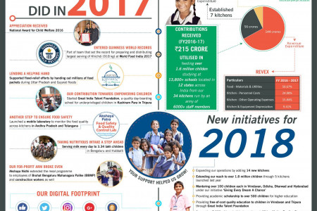 Achievements and Initiatives Infographic