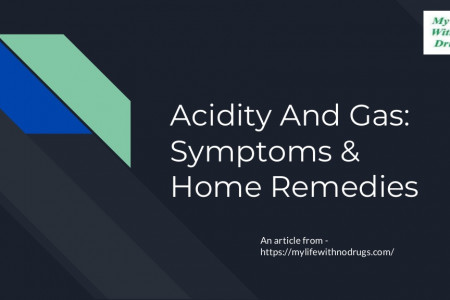 Acidity And Gas: Symptoms & Home Remedies Infographic
