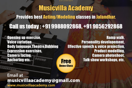 Acting/ Modelling Academy in jalandhar Infographic