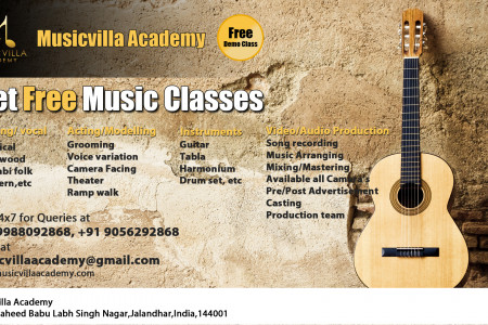 Acting/ Modelling, Singing, Guitar, Music classes in jalandhar Infographic