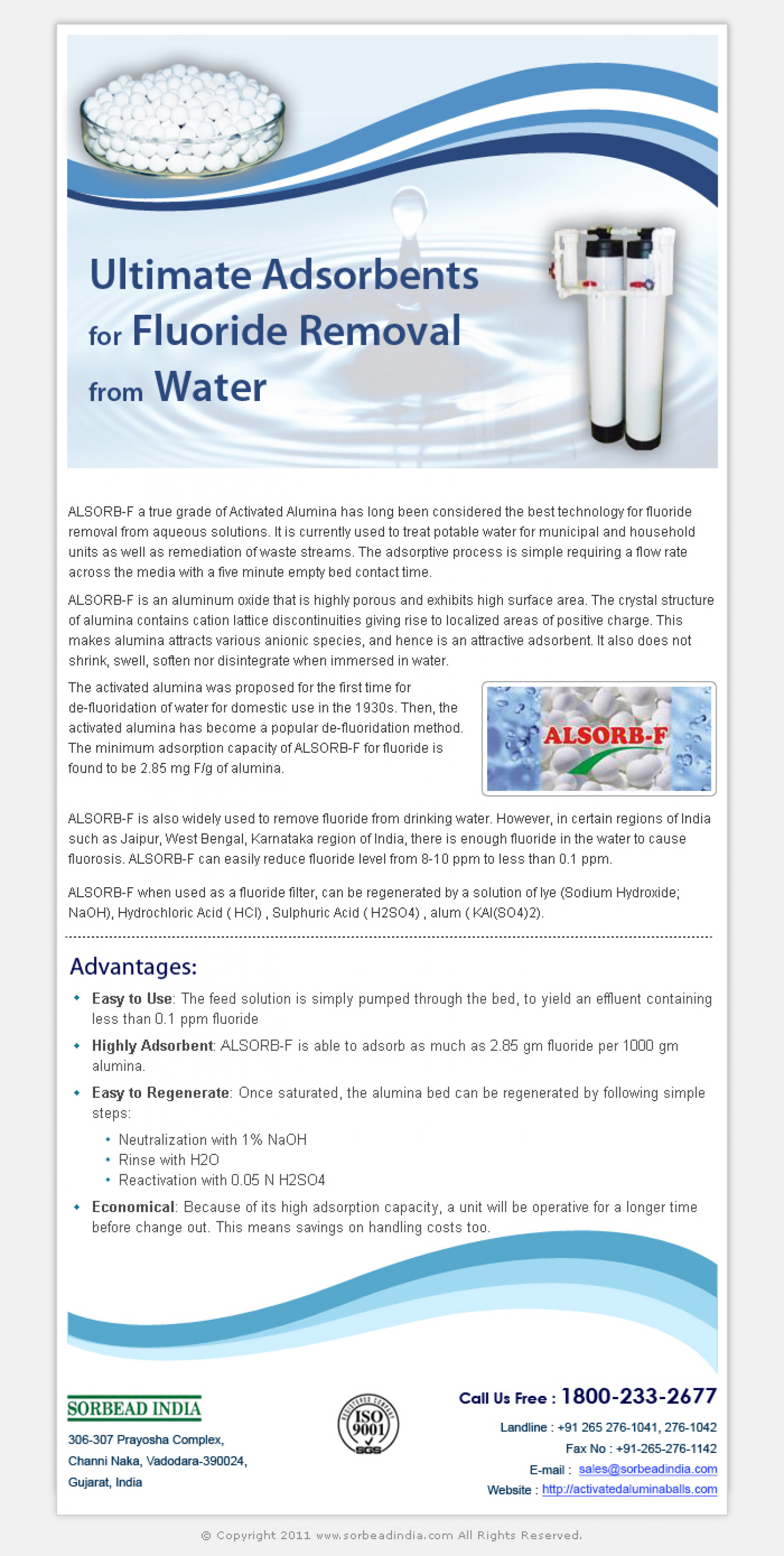 Activated Alumina Balls For Fluoride Removal Infographic