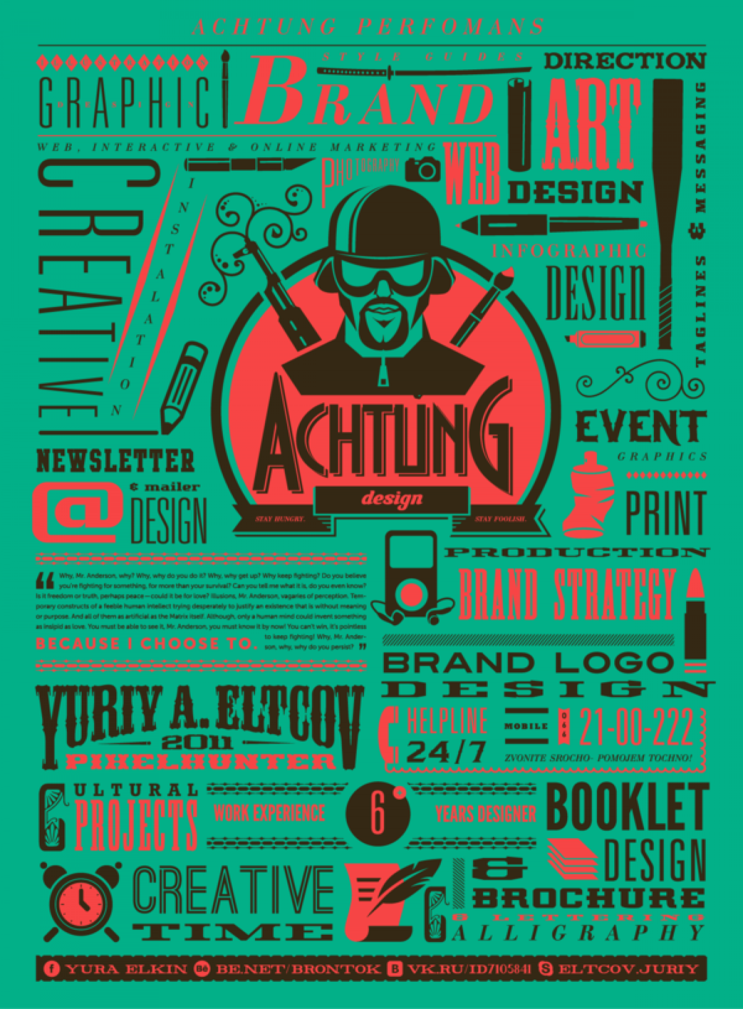 Achtung Design Infographic
