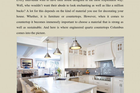 Add the Pinch of Elegance to Your Kitchen with Engineered Quartz Countertops Infographic