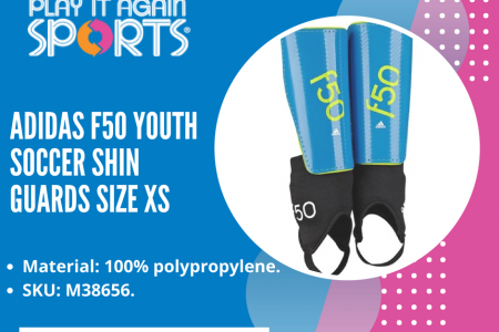 Adidas F50 Youth Soccer Shin Guards - Play It Again Infographic