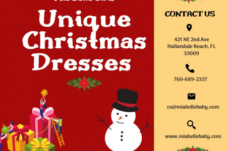 Adorable Little Girls Christmas Dresses Online Infographic