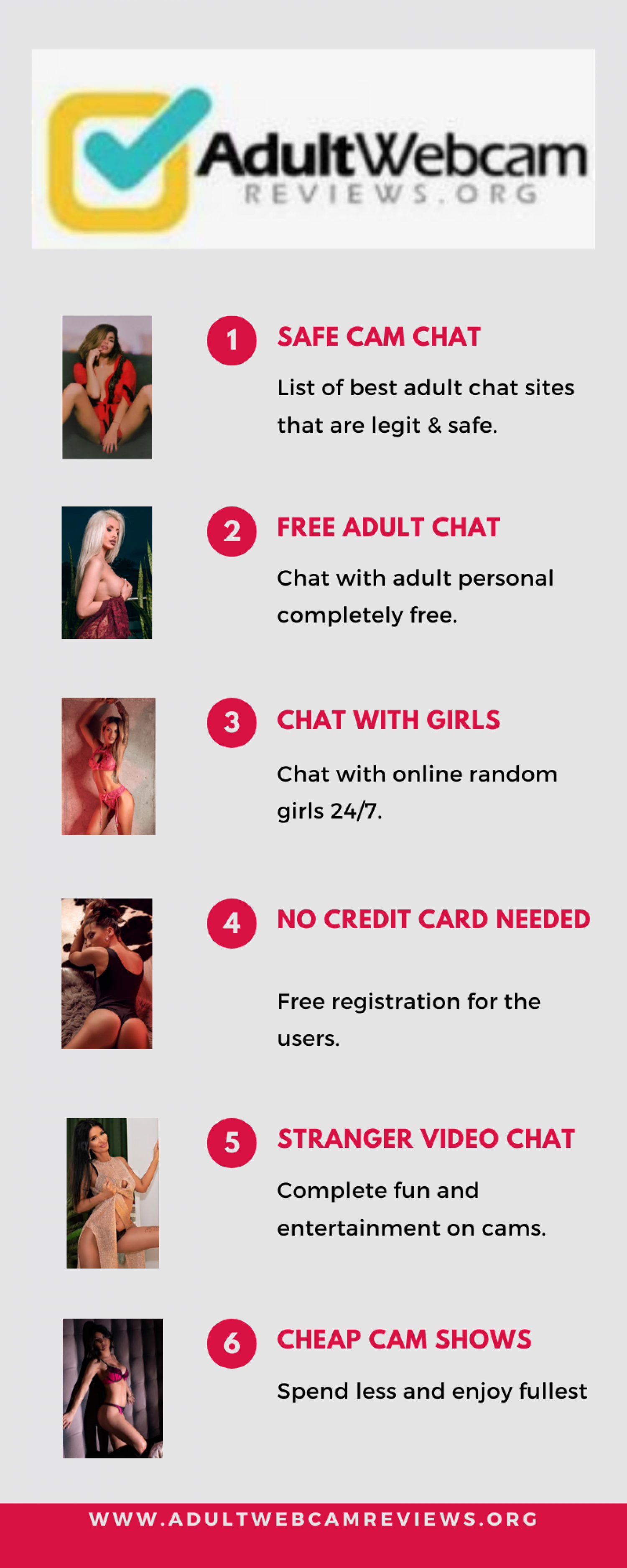 Adult Webcam Reviews - Top Cam Sites of 2019 Infographic