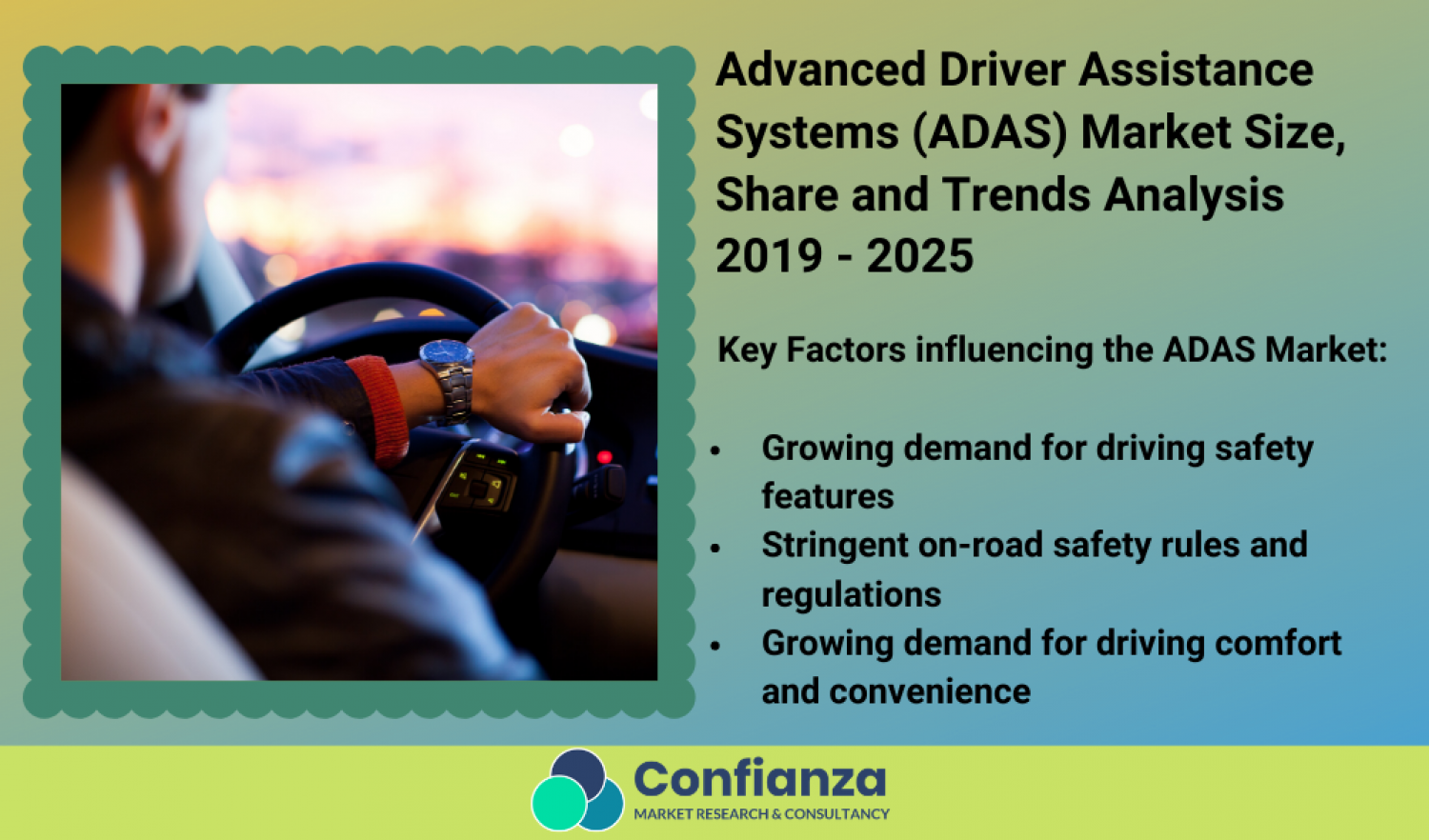 Advanced Driver Assistance Systems (ADAS) Market Size, Share and Trends Analysis 2019 - 2025 Infographic