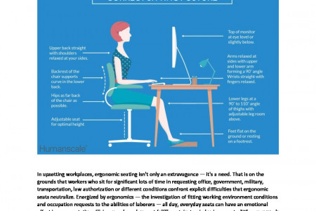 Advantage Of Ergonomic Chair | Office Seatings | Humanscale India Infographic