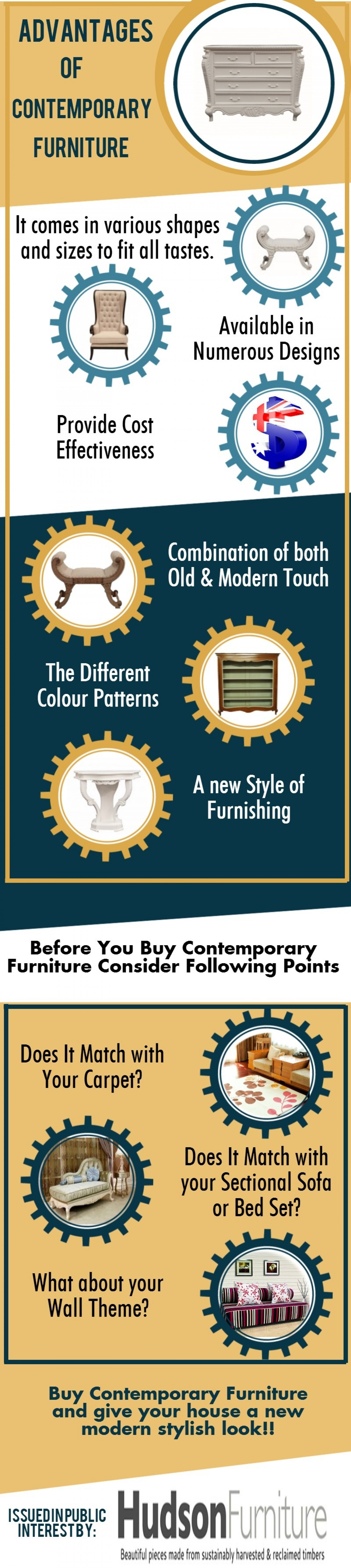 Advantages of Contemporary Furniture Infographic